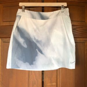 NIKE DRI-FIT MULTICOLOR GRAY WHITE GOLF SKIRT 8